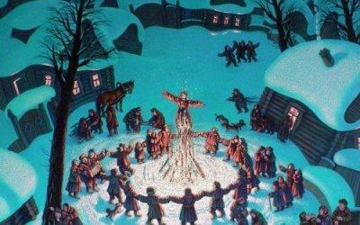 Масленица в усадьбах Римского-Корсакого Вечаша и Любенск