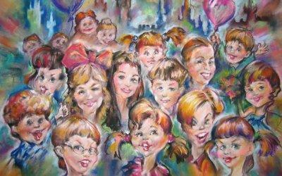 Новый год и мастер класс по шаржу в усадьбе Щербова