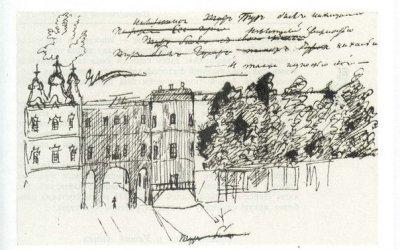 Пушкин в Царском селе с посещением Лицея